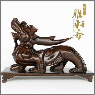 紅木工藝品 木雕貔貅擺件 鎮宅旺財 風水貔貅
