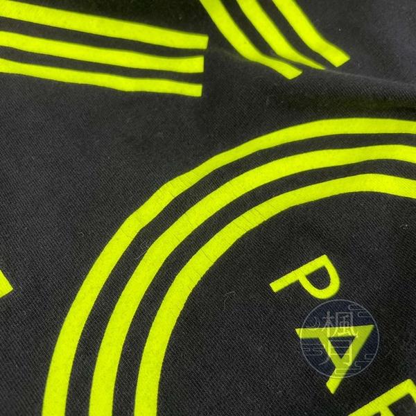 BRAND楓月 KENZO 高田賢三 黑色 黑底 螢光色LOGO印花 長版上衣 100%棉 短袖 黑T 男版 #M