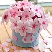 不織布材料包diy手工布藝-櫻花雪兔盆栽花盆花束-免裁剪
