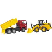 促銷優惠 德國BRUDER仿真大型車 MAN 卡車+ 堆土機組