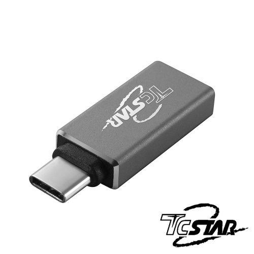 T.C.STAR TYC-HB002GR Type-C(公) to USB3.0(母) OTG鋁合金轉接頭