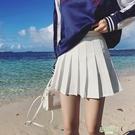 夏季學院風網球裙白色百褶裙短裙高腰Aa字半身裙大尺碼學生裙褲 【快速出貨】