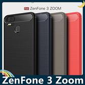 ASUS ZenFone 3 Zoom 戰神碳纖保護套 軟殼 金屬髮絲紋 軟硬組合 防摔全包款 矽膠套 手機套 手機殼