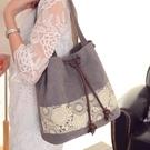 水桶包水桶包甜美可愛民族風時尚單肩女包包【快速出貨】