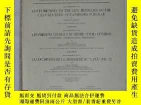 二手書博民逛書店CONTRIBUTIONS罕見TO THE LIFE HISTO