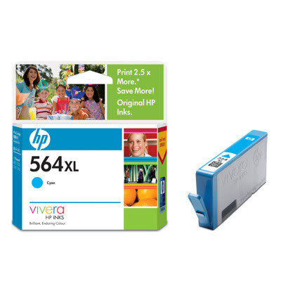 HP㊣原廠墨水匣 CB323WA (NO.564XL) 藍色(高容量) 適用 HP B109A / D5460 / C5380 / C6380