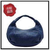 BV牛皮編織肩背包-藍色二手商品