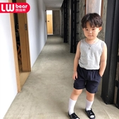 朗維熊男童中童短褲小童2019新款夏裝兒童小西褲休閒褲五分褲韓版