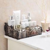 梳妝臺透明化妝品收納盒 桌面塑料多格整理盒護膚品置物架YYP 俏女孩