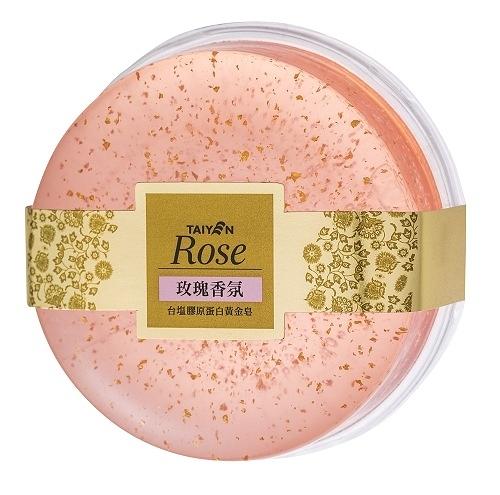 膠原蛋白黃金皂 - 玫瑰香氛100g 【台鹽生技】