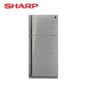 [SHARP 夏普]541公升 鏡面玻璃 變頻雙門電冰箱 SJ-GD54V-SL【加贈 奇美14吋DC立扇 DF-14G0ST】