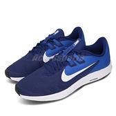 Nike 慢跑鞋 Downshifter 9 藍 白 男鞋 基本款 運動鞋 【ACS】 AQ7481-400