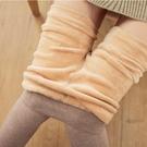 內搭褲 刷毛棉褲女冬季內刷毛加厚打底褲女外穿顯瘦黑色豎條螺紋高腰保暖褲連襪