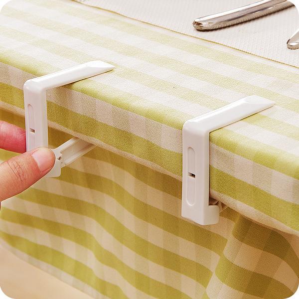 ♚MY COLOR♚桌巾防滑固定夾(四入) 餐桌 塑料 桌布 電腦 餐廳 用餐 腳夾 桌裙 裝飾 扣夾【J158】