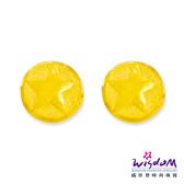 威世登 黃金圓星型貼耳耳環 金重約0.27~0.29錢 送禮推薦 生日 情人節 GF00095-1-EEX-FIX