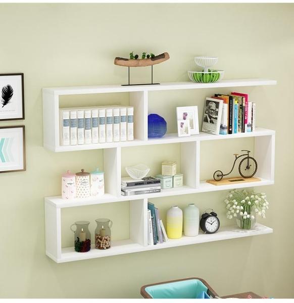 墻上置物架壁掛書架墻架客廳墻面裝飾現代簡約墻壁櫃儲物臥室吊櫃LX 新年禮物