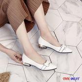 [百姓公館] 小皮鞋 漆皮  尖頭 平底單鞋 淺口 低跟 粗跟
