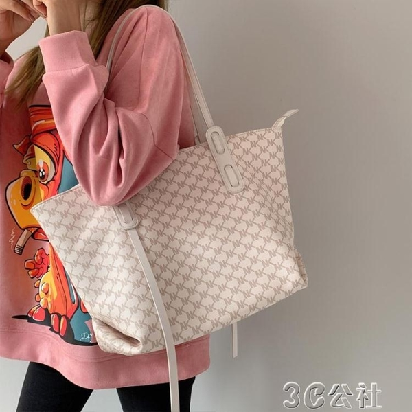 手提包 高級感包包女大容量新款潮網紅手提單肩包百搭通勤托特子母包 快速出貨
