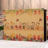 DIY牛皮紙手工相冊黑卡紙菜單本彩色內頁情侶影集紀念冊家庭相冊 夢幻衣都