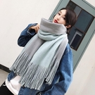 圍巾 圍巾女冬季正韓學生兩用百搭秋冬天雙面加厚長款披肩毛線針織圍脖交換禮物