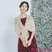 Red House 蕾赫斯-鏤空針織披肩(共2色)