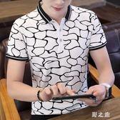 中大尺碼POLO衫 男士短袖T恤夏季上衣服有領丅帶領體桖男裝翻領POLO衫潮 nm20223【野之旅】