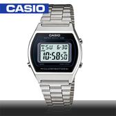 CASIO手錶專賣店 卡西歐  B640WD-1A 男錶 電子錶 復古風方形 防水50米 LED照明 不鏽鋼錶帶