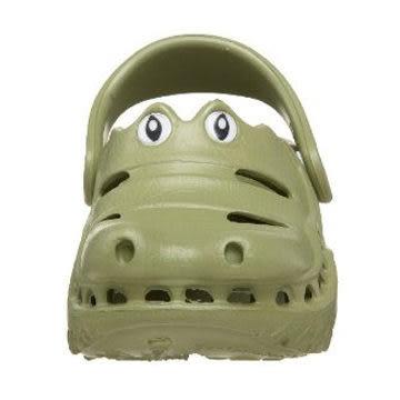 *粉粉寶貝玩具*Polliwalks童鞋-鱷魚(橄欖綠)