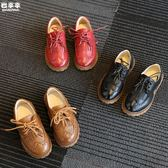 小孩兒童男童 黑色皮鞋女童 英倫雕花復古3-10 布洛克休閒 跳舞鞋 k-shoes