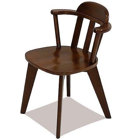 【這家子家居】 日式 經典小扶手餐椅 單椅/休閒椅/實木椅/經典椅/復刻椅【B0040】