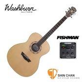 美國 Washburn WGO15S+EQ 可插電單板民謠吉他【WGO-15SE/電木吉他】