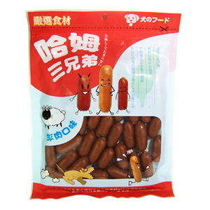 ★哈姆三兄弟《雞哥/牛王/羊弟 美味熱狗腸》240g,最挑嘴的狗都愛吃