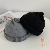 針織地主帽秋冬羊毛冷帽可愛奶嘴蓓蕾毛線帽【橘社小鎮】
