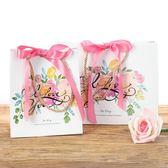 伊人閣 創意禮品袋結婚手提袋粉色大小號禮物袋