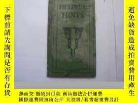 二手書博民逛書店HELPFUL罕見HINTSY10911 HINTS 外文出版社 出版1920