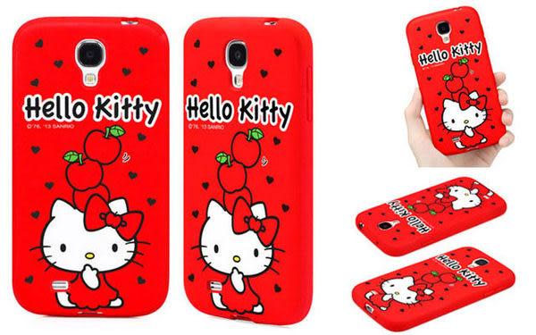 三麗鷗授權 正品 Hello Kitty 背蓋保護殼*Samsung Galaxy S4 i9500 TPU 矽膠 軟殼 保護套 手機殼 背蓋