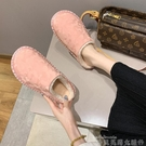 家用棉拖鞋女2021年秋冬新款韓版休閒平底防滑孕婦居家包頭半拖鞋 貝芙莉
