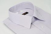 【金‧安德森】紫白條紋吸排短袖襯衫