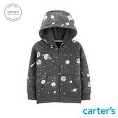 【美國 carter s】太空世界滿版印圖連帽外套