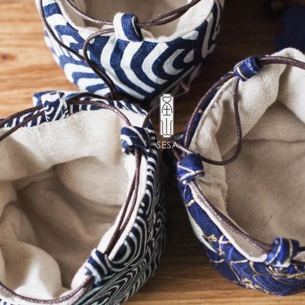 茶具收納包 手工茶杯收納袋