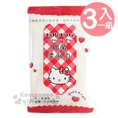 〔小禮堂〕Hello Kitty 袖珍濕紙巾包《3入.紅格紋.愛心》1包10抽.抑菌配方 4715664-50343