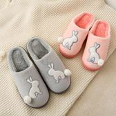 棉拖鞋女男士厚底情侶秋冬季居家居韓版室內包跟冬天毛毛拖鞋可愛