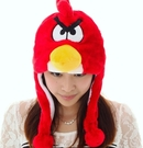 可愛動物帽 憤怒鳥頭套 兒童大人成人造型帽 萬聖節聖誕節  角色扮演服裝