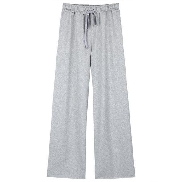 秋季女寬鬆褲子高腰寬褲小個子休閒長褲垂感直筒褲運動褲顯瘦潮 米娜小鋪