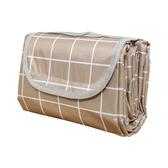 【Incare】防水收納摺疊便攜野餐墊(加大款/200x200cm)咖格