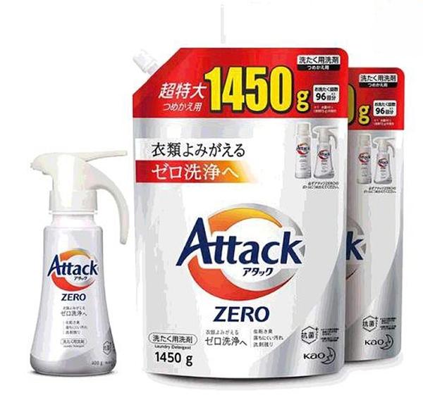 [COSCO代購] W129229 Attack Zero 噴槍型洗衣凝露 噴槍瓶400公克 + 補充包1450公克 X 2入