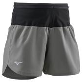 MIZUNO 女裝 短褲 慢跑 訓練 腰圍口袋 素面 灰 黑【運動世界】J2MB871007