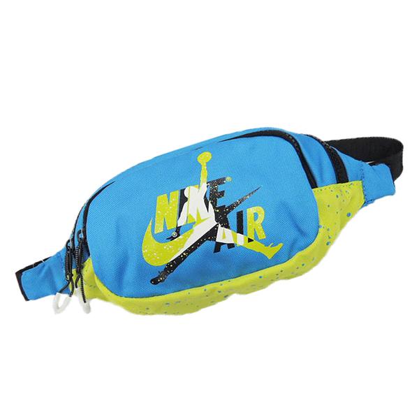 【現貨】NIKE JORDAN JUMPMAN 腰包 休閒 藍 綠【運動世界】JD2023003GS-002