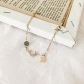 星星月亮手鏈女韓版冷淡風學生個性簡約水晶珍珠小眾設計手飾