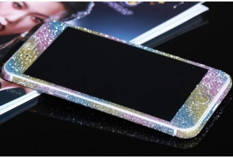 [24hr 火速出貨] [前後一套] 手機膜 貼膜 iPhone6 iphone 6s plus 手機 貼紙 保護貼 多彩 彩色 薄度0.2